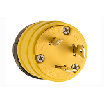 Pass & Seymour - Rubber Dust-Tight Locking Plug, Yellow - 2849