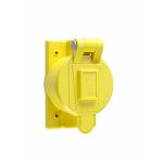Pass & Seymour - Accessory - Thermoplastic Weatherproof Cover, Yellow - 7770