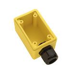 "Pass & Seymour - Watertight Deep Yellow Back Box, 1"" NPT Opening for Duplex Receptacles - FD23"