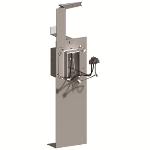 Pass & Seymour - PSFS1185825 - Floor Bracket Wired Assembly with Solid Copper Pigtails, Single Gang/Single PlugTail