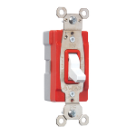 Pass & Seymour - PT20AC3WSL - PlugTail® Specification Grade Three-Way Illuminated 20 amp Toggle Switch, White