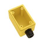"Pass & Seymour - FD22 - Watertight Deep Yellow Back Box, 3/4"" NPT Opening for Duplex Receptacles"