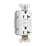 Pass & Seymour - PT2097TRNAW - PlugTail® NAFTA-Compliant Spec-Grade Tamper-Resistant 20A Self-Test Duplex GFCI