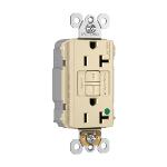 Pass & Seymour - PT2097HGTRNAI - PlugTail® NAFTA-Compliant Hospital-Grade Tamper-Resistant 20A Self-Test Duplex