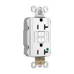 Pass & Seymour - PT2097HGNAW - PlugTail® NAFTA-Compliant Hospital-Grade 20A Self-Test Duplex GFCI, White