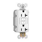 Pass & Seymour - PT2097NAW - NAFTA-Compliant PlugTail® Spec-Grade 20A Self-Test Duplex GFCI, White