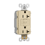 Pass & Seymour - PT2097NAI - NAFTA-Compliant PlugTail® Spec-Grade 20A Self-Test Duplex GFCI, Ivory