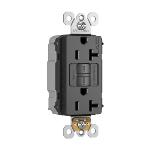 Pass & Seymour - PT2097NABK - NAFTA-Compliant PlugTail® Spec-Grade 20A Self-Test Duplex GFCI, Black