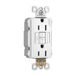 Pass & Seymour - PT1597NAW - NAFTA-Compliant PlugTail® Spec-Grade 15A Self-Test Duplex GFCI, White