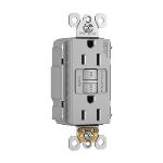 Pass & Seymour - PT1597NAGRY - NAFTA-Compliant PlugTail® Spec-Grade 15A Self-Test Duplex GFCI, Gray