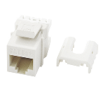 On-Q® - Cat 5e Quick Connect RJ45 Keystone Insert, White