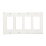 On-Q® - Decorator Openings, Four Gang, White