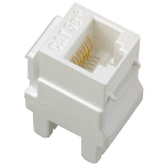 On-Q® - Cat 5e RJ45 Data / Phone Insert, White