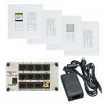 On-Q® - Radiant Selective Call 4-Room Intercom Kit, White