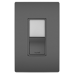 On-Q® - Night Light with Single-Pole, 3-Way Switch, Black