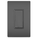 On-Q® - 15A Self-Grounding Single Pole Switch, Black