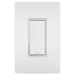 On-Q® - 15A Self-Grounding Single Pole Switch, White