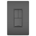On-Q® - Two Single Pole Switches & Single Pole/3-Way Switch, Black