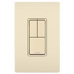 On-Q® - Two Single Pole Switches & Single Pole/3-Way Switch, Light Almond