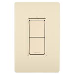 On-Q® - Two Single Pole Switches, Light Almond