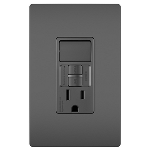 On-Q® - Combination Tamper-Resistant 15A Self-Test Single-Pole Switch/GFCI, Black