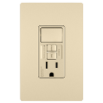 On-Q® - Combination Tamper-Resistant 15A Self-Test Single-Pole Switch/GFCI, Ivory