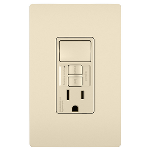 On-Q® - Combination Tamper-Resistant 15A Self-Test Single-Pole Switch/GFCI, Light Almond