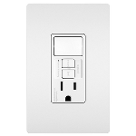 On-Q® - Combination Tamper-Resistant 15A Self-Test Single-Pole Switch/GFCI, White
