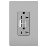 On-Q® - Combination Tamper-Resistant 20A Self-Test Night Light/GFCI, Gray