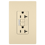 On-Q® - Combination Tamper-Resistant 20A Self-Test Night Light/GFCI, Ivory