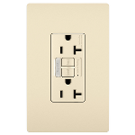 On-Q® - Combination Tamper-Resistant 20A Self-Test Night Light/GFCI, Light Almond