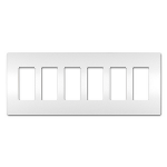 On-Q® - Six-Gang Screwless Wall Plate, White