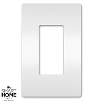 On-Q® - One-Gang Screwless Wall Plate, White - Wall Plates