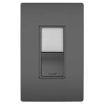 On-Q® - Night Light with Single-Pole, 3-Way Switch, Black