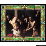 Stained Glass Inc. - Christ at the Column Panel #7509 - Stained Glass Window Insert