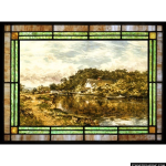 Stained Glass Inc. - On the Stone Suffolk Panel #5634 - Stained Glass Window Insert