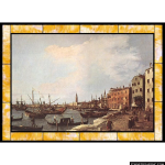 Stained Glass Inc. - Riva Degli Schiavoni - West Side Panel #7479 - Stained Glass Window Insert
