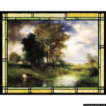 Stained Glass Inc. - The Passing Storm Panel #8386 - Stained Glass Window Insert