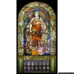 Stained Glass Inc. - Blessed are the Merciful Panel #2142 - Stained Glass Window Insert