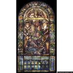 Stained Glass Inc. - Blessed are the Pure in Heart Panel #2139 - Stained Glass Window Insert