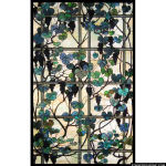Stained Glass Inc. - Foliage On a Trellis Panel #5544 - Stained Glass Window Insert