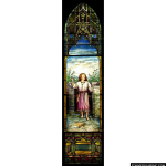 Stained Glass Inc. - Gothic Tiffany Jesus Panel #5300 - Stained Glass Window Insert