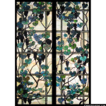 Stained Glass Inc. - Grapevines and Trellis Panel #2962 - Stained Glass Window Insert