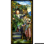 Stained Glass Inc. - Jesus and the Samaritan Woman Panel #5295 - Stained Glass Window Insert