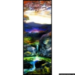 Stained Glass Inc. - Rainbow Stream Panel #5214 - Stained Glass Window Insert