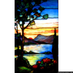 Stained Glass Inc. - Rising Sun Tiffany Panel #2913 - Stained Glass Window Insert