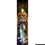 Stained Glass Inc. - Tiffany Angel and Crown Panel #3520 - Stained Glass Window Insert