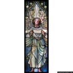 Stained Glass Inc. - Tiffany Angel with a Scroll Panel #3500 - Stained Glass Window Insert