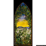 Stained Glass Inc. - Tiffany Wild Flowers Panel #2912 - Stained Glass Window Insert