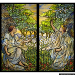 Stained Glass Inc. - Two Angels Tiffany Panel #2977 - Stained Glass Window Insert